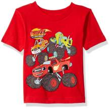 Blaze and the Monster Machines Boys' Toddler Blaze & The Monster Machines, Stripes, Pickle S/S Tshirt