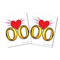 KitAbility Get Social Single Emoji Set for White Message Board Sidewalk Signs with 4 Inch Tracks Includes One Pair of Wedding Rings and Heart Emoticons