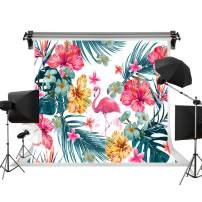 Kate 7x5ft/2.2m(W) x1.5m(H) Summer Backdrop Flowers Background Pink Flamingo Backdrop Decorations Kids Photography Background Holiday Backdrop
