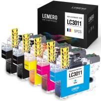 LEMERO Compatible Ink Cartridges Replacement for Brother LC3011 LC 3011 for Brother MFC-J895DW MFC-J497DW MFC-J491DW MFC-J690DW (2 Black, 1 Cyan, 1 Magenta, 1 Yellow, 5 Pack)