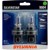 SYLVANIA - 9004 SilverStar - High Performance Halogen Headlight Bulb, High Beam, Low Beam and Fog Replacement Bulb, Brighter Downroad with Whiter Light (Contains 2 Bulbs)