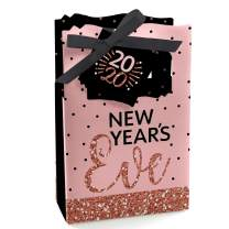 Big Dot of Happiness Rose Gold Happy New Year - 2020 New Year's Eve Party Favor Boxes - Set of 12