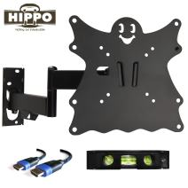 "HIPPO TV Wall Mount Bracket for 15"" 17"" 19"" 20"" 22"" 23"" 24"" 26"" 27"" 28"" LED LCD OLED Plasma Screen up to 55 lbs VESA 200x200 5ft HDMI Cable"