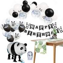 Panda Birthday Party Supplies Decoration Pack of 47 - Panda Happy Birthday Banner Balloons Kit - Kids Panda Bear Birthday Decorations