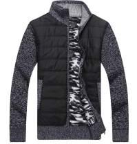 XinYangNi Men's Soft Cotton Warm Thick Knit Cardigan Sweater Jacket Coats Long Sleeve Full Zip