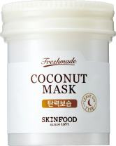 SKINFOOD Freshmade Coconut Mask 3.04 fl.oz. (90ml) - Coconut Milk Hydrating & Firming Facial Sleeping Mask, Hypoallergenic Gel type Leave-on Treatment for Smooth & Resilient Skin
