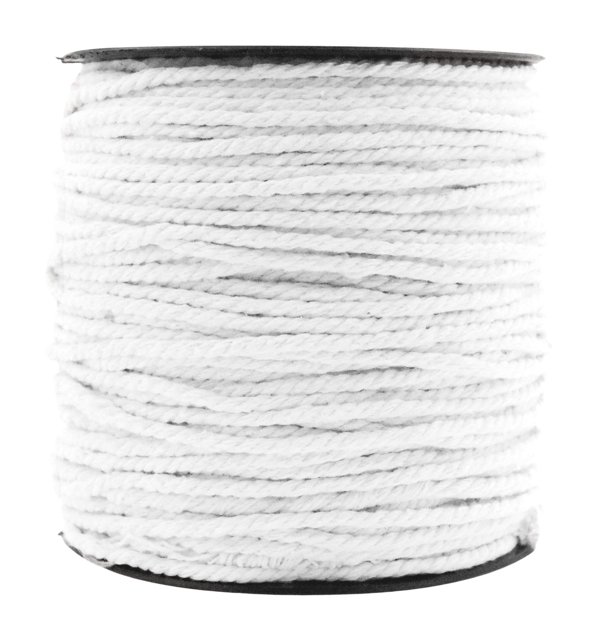 Macrame Cord Cotton Rope Macrame Supplies 3 Ply Twisted Macrame Rope String Yarn for Plant Hanger Wall Hanging Knitting Wedding Décor by Mandala Crafts White, 3mm 109 Yards