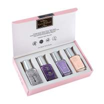 Karma Organic beautiful Nail polish surprise gift Pack Halal Nail Polish Set- Truly Breathable Cruelty Free and Vegan - Oxygen Permeable Wudu Friendly Nail Enamel (Touch of Lavender)