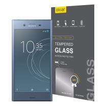 Olixar for Sony Xperia XZ1 Screen Protector - Glass Screen Protector - Tempered Glass 9H Rated - Shock Protection - Easy Application, Card and Cleaning Cloth Included - Clear