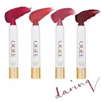 Ogee Tinted Sculpted Lip Oil - Daring 4 Piece Gift Set - Made with 100% Organic Coconut Oil, Jojoba Oil, and Vitamin E - Best as Lip Balm, Lip Color or Lip Treatment