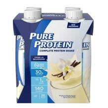 Pure Protein Complete Ready to Drink Shakes, High Protein Vanilla Milkshake, 11oz, 4 Count, With Vitamin A, Vitamin C, Vitamin D, and Zinc to Support Immune Health