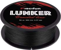Piscifun Lunker Braided Fishing Line Multifilament 300yards 547yards - Improved Braided Line - Abrasion Resistance Fishing Line - Zero Stretch - Thinner Diameter 6lb-80lb