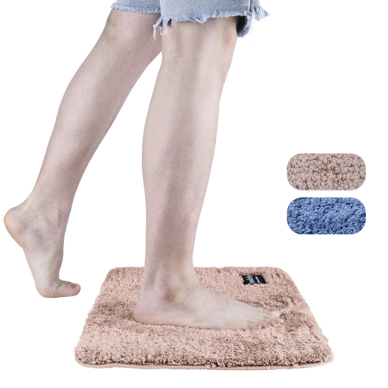 LOMOFI Bath Mat | Premium Non-Slip Bathroom Rug with Soft Microfiber, Absorbent, Dry Fast Design, Machine-Washable | 40 X 60 cm - Rosegold