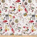 Alexander Henry A Ghastlie Notion Fabric, Natural, Fabric By The Yard