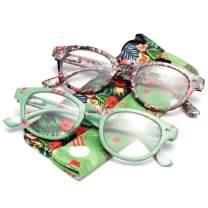 LianSan Christmas Anti-Fog Anti-Blue Reading Glasses with Spring Hinge Blue Light Filter Computer Readers for Men Women