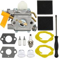 Dalom Carburetor w Tune Up Kit Air Filter for Ryobi 30cc String Trimmer RY30160 RY30220 RY30240 RY30260 RY30522 RY30542 RY30562 RY30120 RY30140 RY30220A RY30220B Brushcutter