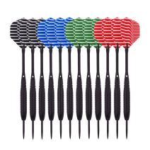 Wolftop Steel Tip Darts 18 Grams | 23 Grams - Premium Darts Set with Aluminum Shafts and Standard Flights + Rubber O'Rings + Dart Sharpener