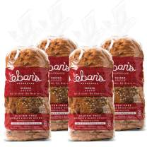 Eban's Bakehouse Fresh Baked Gluten-Free Seeded Bread - 4 Loaves - 100% Natural - Soy, Wheat and Dairy Free, Preservative Free, Non-GMO (26oz, 737g Each)
