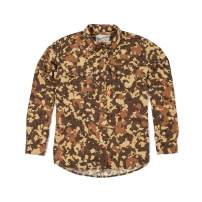 Duck Camp Men's Button Down Long Sleeve Hunting Shirt Midweight - Late Season Wetland Camouflage