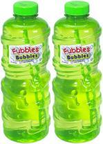 Little Kids Fubbles Premium Long Lasting Bubble Solution, 32 oz, 2 Pack
