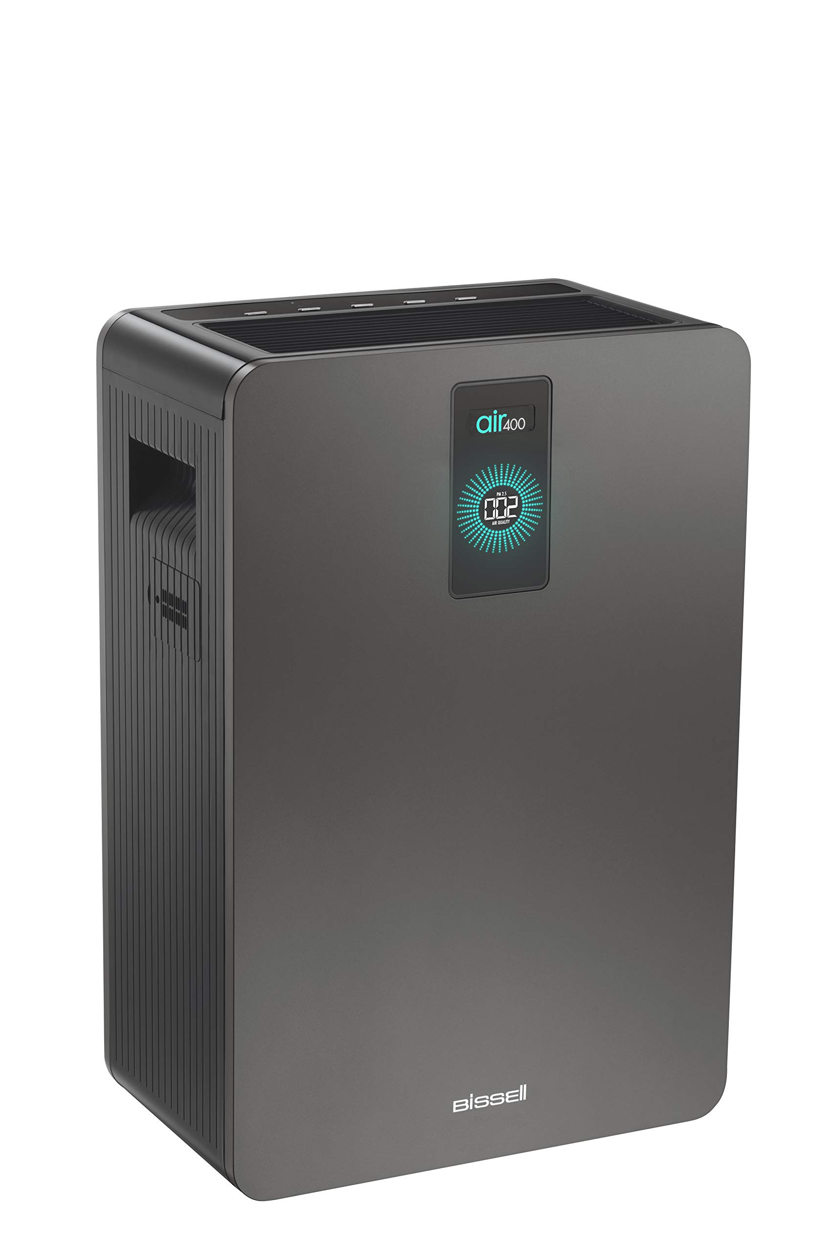 Bissell air400 Smart Purifier with High Efficiency and Carbon Filters for Large Room and Home, Quiet Bedroom Air Cleaner for Allergies, Pets, Dust, Dander, Pollen, Smoke, Hair, Odors, Auto Mode, 24791
