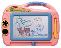 ikidsislands IKS86P [Travel Size] Color Magnetic Drawing Board for Kids, Doodle Board for Toddlers, Sketch Pad Toy for Little Girls (Pink)