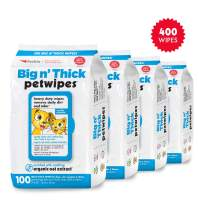 Petkin Petwipes – Big 'n Thick Extra Large Pet Wipes for Dogs and Cats – Cleans Face, Ears, Body and Eye Area – Super Convenient, Ideal for Home or Travel