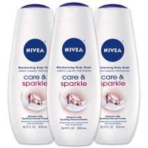 NIVEA Care & Sparkle Moisturizing Body Wash - Floral Scent with Diamond Powder for Normal Skin - 16.9 fl. oz. Bottle (Pack of 3)
