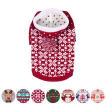 Blueberry Pet 10+ Patterns Christmas Clothes - Christmas Family Interlock Sweaters for Dogs, Children and Parents, Lovely Sweatshirts for Dogs