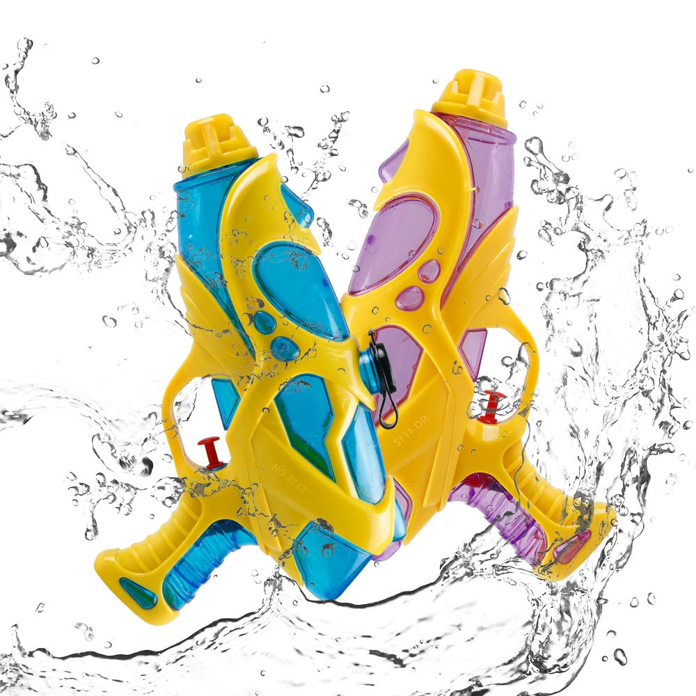 Innoo Tech 2 Pack Water Gun for Kids Adults, Super Squirt Guns Water Soaker Blaster Long Range 200CC Water Toy for Boys Summer Swimming Pool Beach Sand Water Fighting Toy (2PCS)