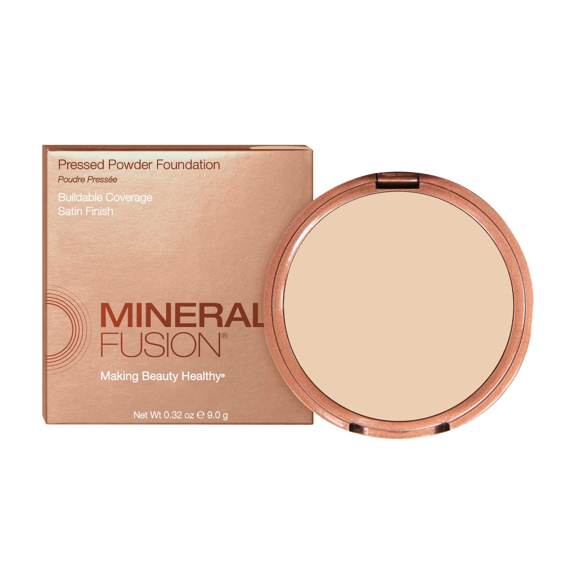 Mineral Fusion Pressed Powder Foundation, Warm 1 , 0.32 Ounce