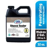 Rain Guard Water Sealers SP-7002 Stucco Sealer Concentrate - Water Repellent for Color Integrated or Unpainted Stucco - Covers up to 200 Sq. Ft, 32 oz Makes 2 Gallons, Invisible Clear