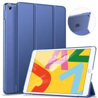 Ztotop Case for iPad 10.2 Inch 2019 - Slim Lightweight Trifold Stand Smart Shell with Auto Wake/Sleep + Rugged Translucent Back Cover for iPad 7th Generation 10.2 2019, NavyBlue
