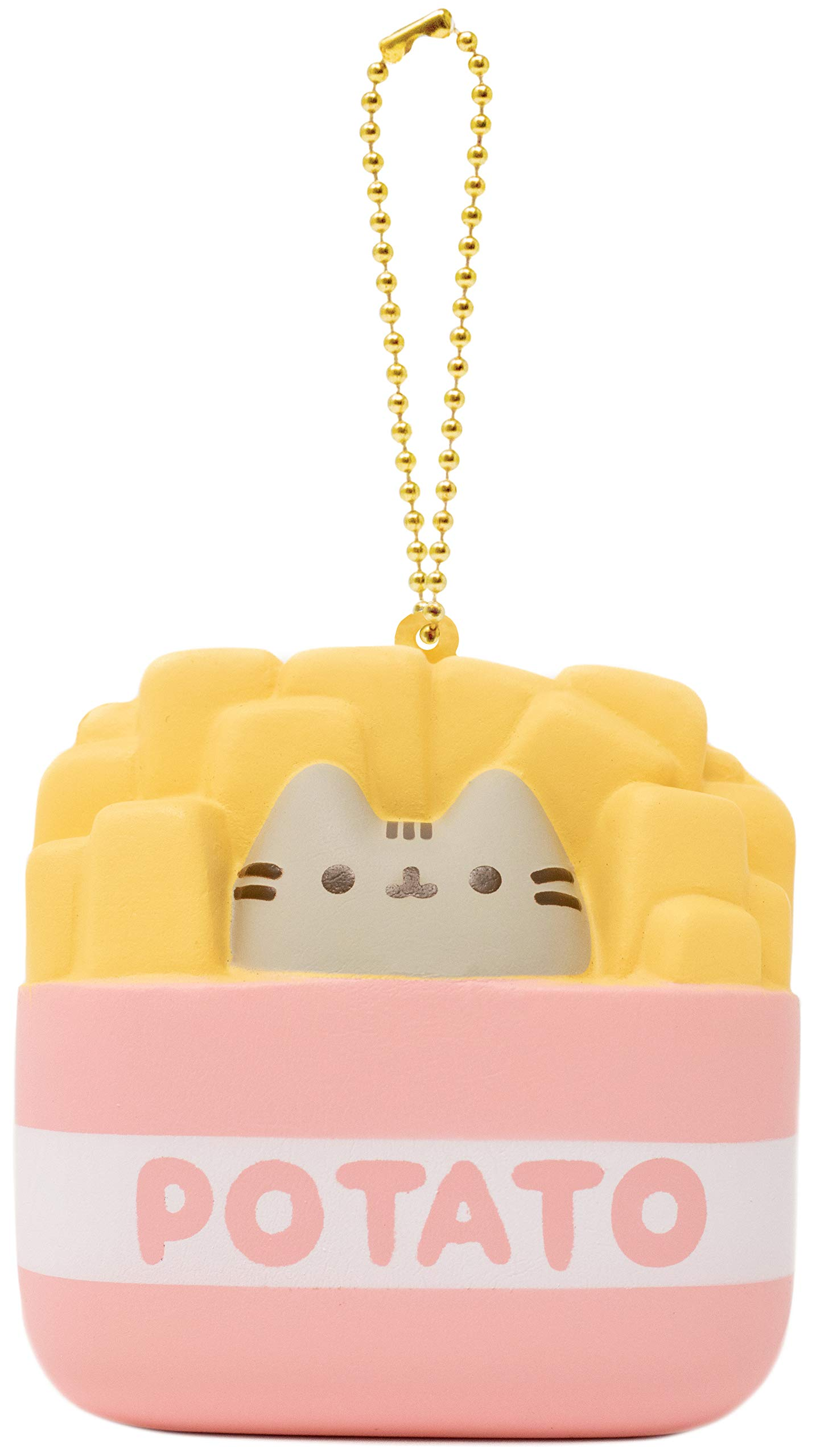 Hamee Pusheen Official Licensed Junk Food Slow Rising Squishy Toy [Square Series] (French Fries, 3 Inch) [Birthday Gift Box, Party Favors, Gift Basket, Stress Relief Toys for Kids, Adults]