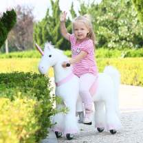 Gidygo Kids Ride on Walking Unicorn Rocking Horse Riding Toy for Children for 3-6 Years Old