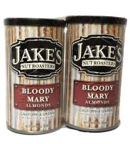 Jake's Nut Roasters Bloody Mary Almonds (2 Pack) Whole Dry Roasted Seasoned Almonds - High-Protein Snack with a Traditional Bloody Mary Flavor