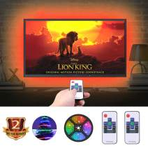 Led Strip Lights for tv, AILBTON TV LED Backlight RGB Strip USB Powered RGB Color Changing Light Strip Kit for 24-60 Inch TV Bias Lighting Variable 18 Colors and 20 Dynamics with 2 RF Remotes