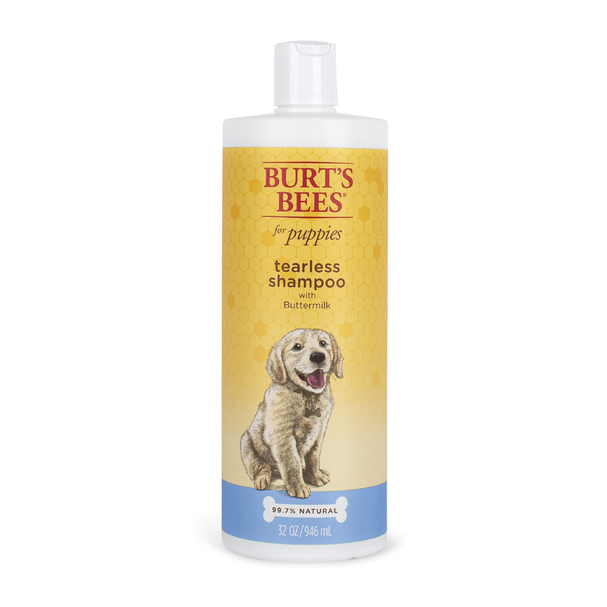 Burt's Bees for Dogs Natural Tearless Puppy Shampoo with Buttermilk | Dog and Puppy Shampoo for Gentle Fur, 32 Ounces | Cruelty Free, Sulfate & Paraben Free, pH Balanced for Dogs - Made in The USA
