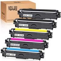 Voshy Compatible Toner Cartridges Replacement for TN221 TN225 TN-221 TN-225 Used to HL-3170CDW MFC-9130CW MFC-9340CDW MFC-9330CDW HL-3140CW HL-3180CDW Printer (2BK, 1C, 1M, 1Y, 5-Pack)
