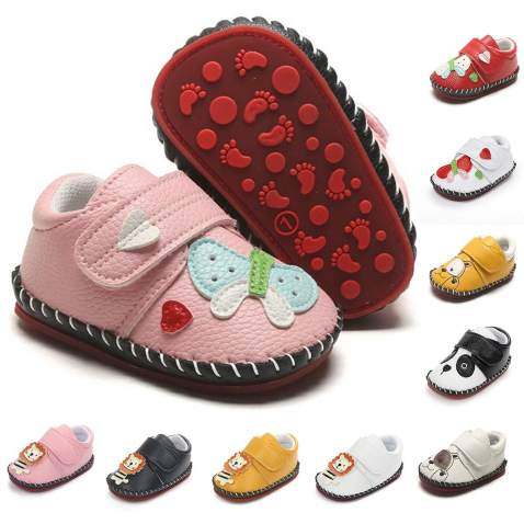 Bebarfer Baby Boys Girls Shoes Cartoon Crawling Slippers Soft Moccasins Toddler Infant Crib Pre Walkers First Walkers Shoes Sneakers