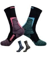 Womens Hiking Socks Outdoor Boot Work Socks w/Antibacterial Odor Moisture Wicking Germanium & Coolmax|Coconut Charcoal