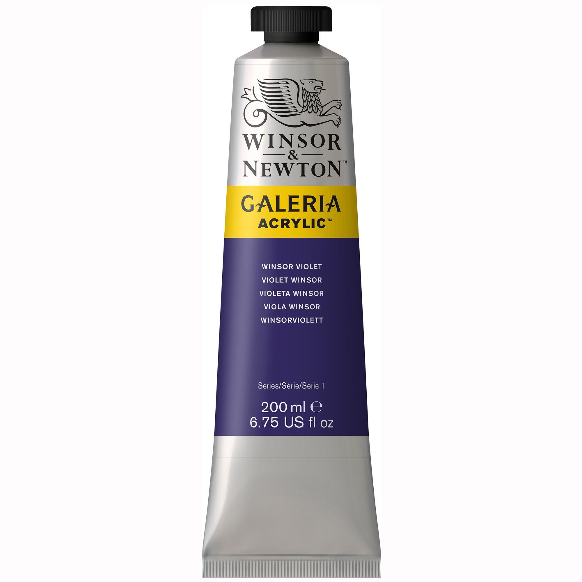Winsor & Newton Galeria Acrylic Paint, 200ml Tube, Winsor Violet