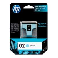 HP 02   Ink Cartridge   Lite Cyan   C8774WN