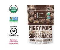 Made In Nature Organic Choco Crunch Figgy Pops, 20oz - Non-GMO Unbaked Protein Balls