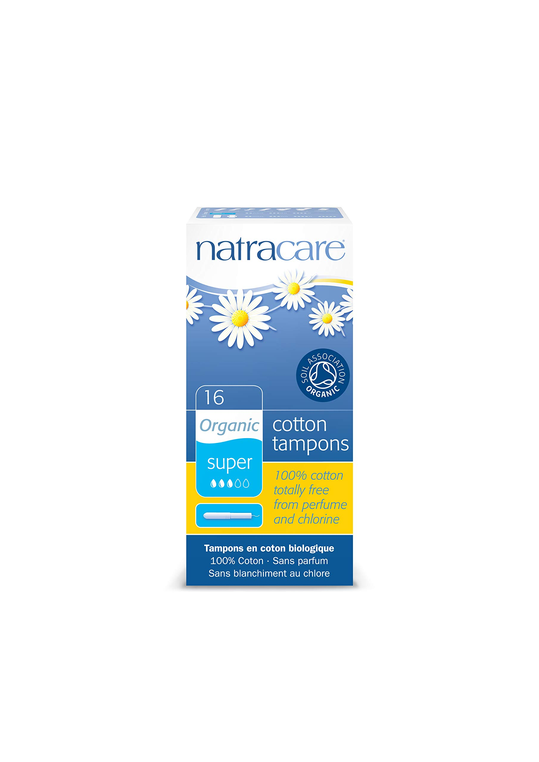 Natracare Organic Super Tampons, With Applicator, 16 ct