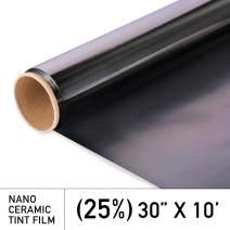 MotoShield Pro Premium 2mil Ceramic Window Tint for Auto - 30 Inches x 10 Feet (25%) [99% Infrared Heat Reduction/Blocks 99% UV] Window Film Roll
