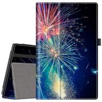 VORI Case for All-New Amazon Fire HD 10 Tablet (9th/7th/5th Generation,2019/2017/2015 Release), Folio Smart Stand Cover with Hand Strap and Auto Wake/Sleep for Fire HD 10.1 Inch, Fireworks