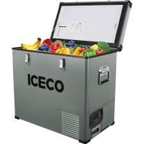 ICECO Portable Freezer 63 Quart Single Zone Portable Refrigerator Car Refrigerator with SECOP Compressor 12 Volt Fridge AC 110-240V, DC 12/24V, For Outdoor Travel, RV, Truck