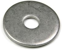 """Extra Thick Fender Washers 18-8 Stainless Steel Washers - Pack of 100 Pieces (3/8"""" x 1-1/2"""" OD)"""