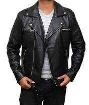 Mens Black Leather Jacket - Real Asymmetrical Lambskin Real Leather Jackets for Men
